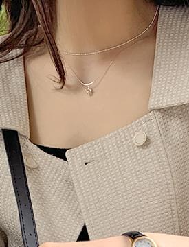 Alphabet Double Layered Necklace