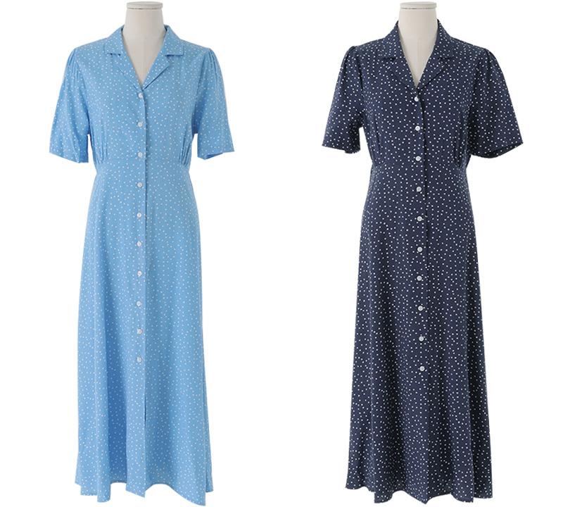 Mist Dot Long Dress