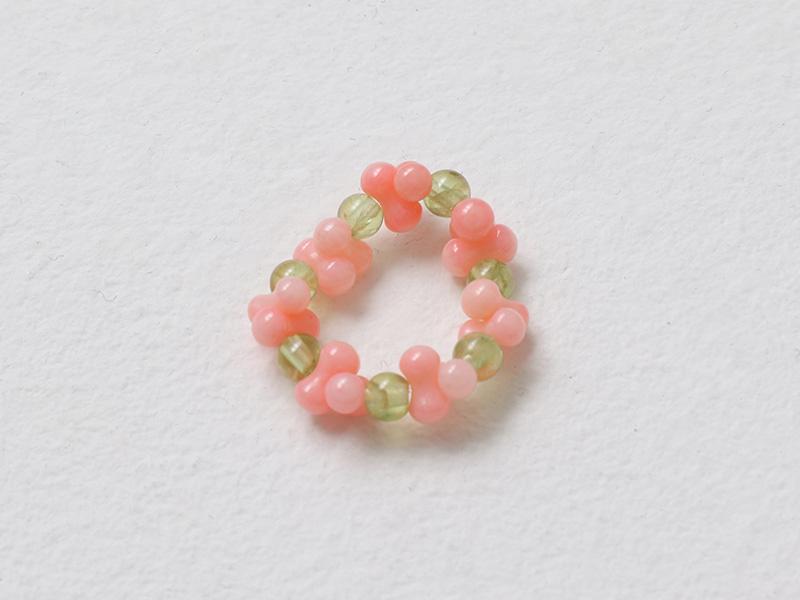 Peach Blossom Beads Ring