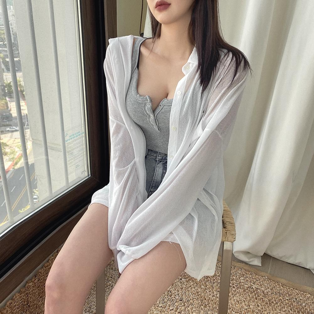 Plain long blouse