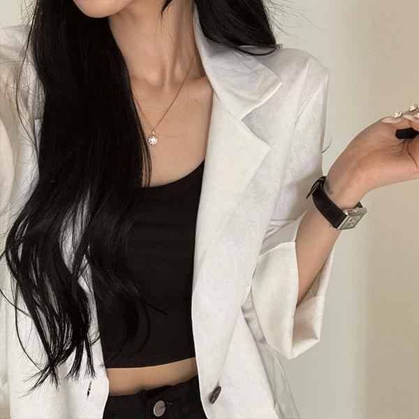 A light summer linen jacket