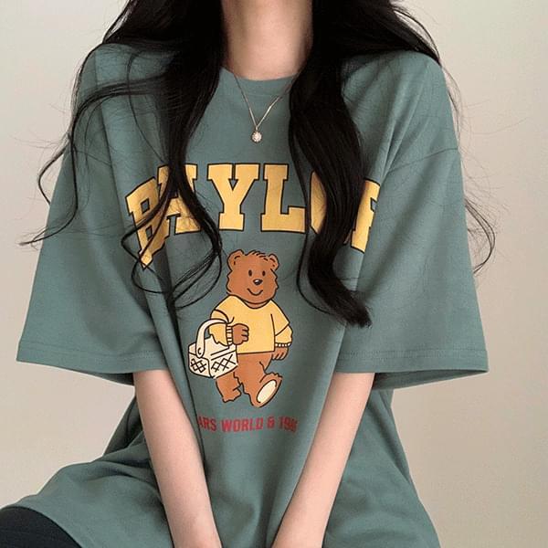 (限量特價中) 可愛小熊寬鬆短袖上衣