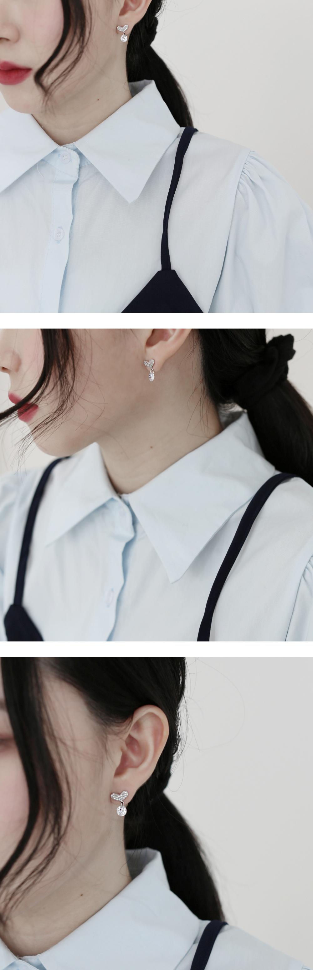 Bebe heart earrings
