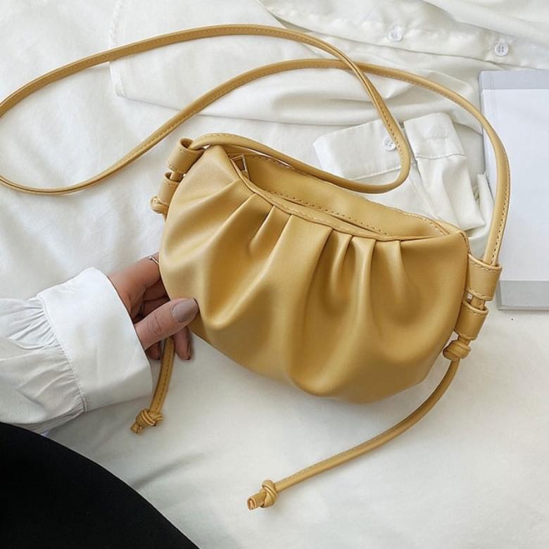 Shirring Manduring Leather Mini Bag
