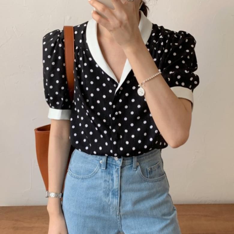 Kami polka dots blouse