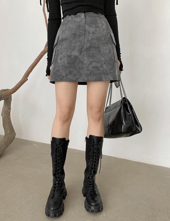 Tie-dye mini skirt