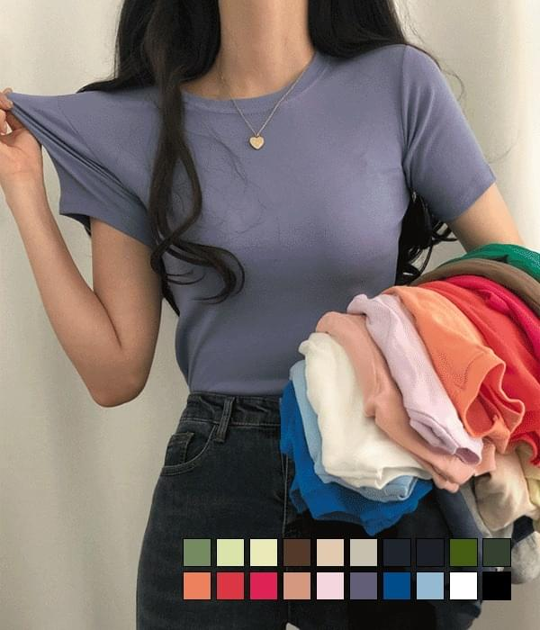20 color short-sleeved T-shirts that hold the silhouette neatly
