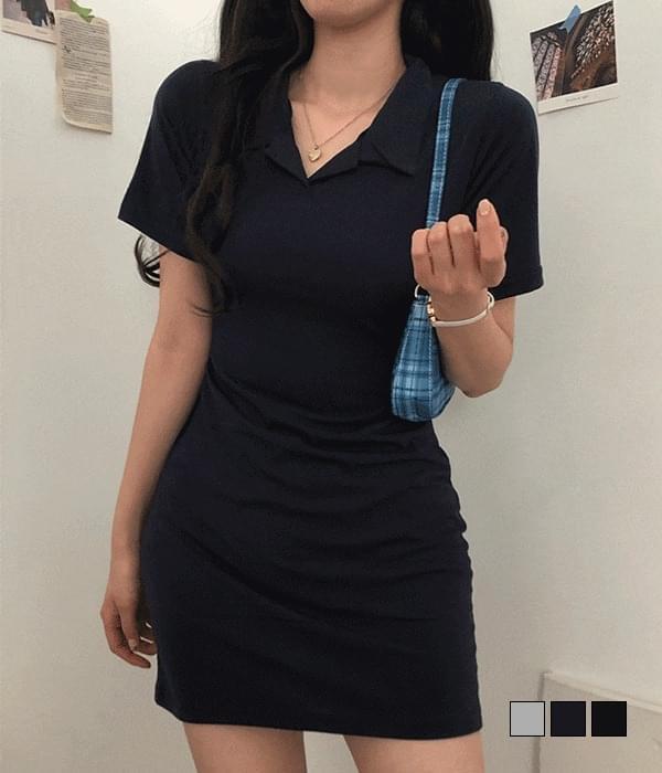 Cheeky Collar Mini Dress 迷你短洋裝