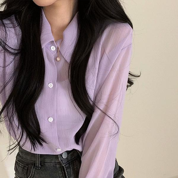 Yoru see-through summer shirt