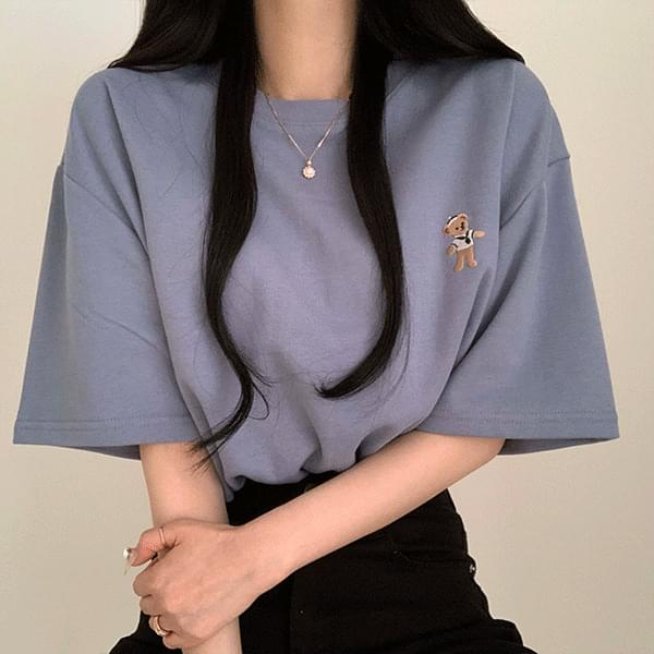 Beardoll Embroidery Loose-fit Fit Short Sleeve Tee