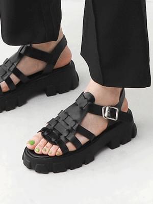 Isshu Glady Strap T-shaped Heel Sandal 9115