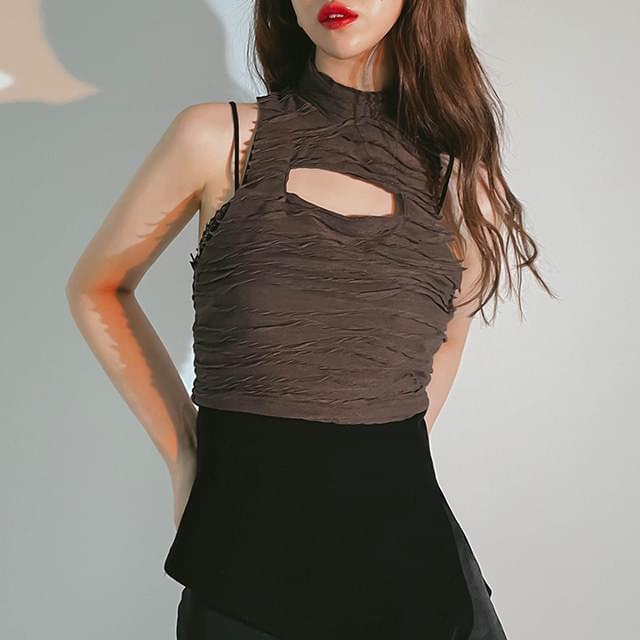 Cropped Yeni Sleeveless T-shirt