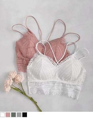 Dappy lace bralette