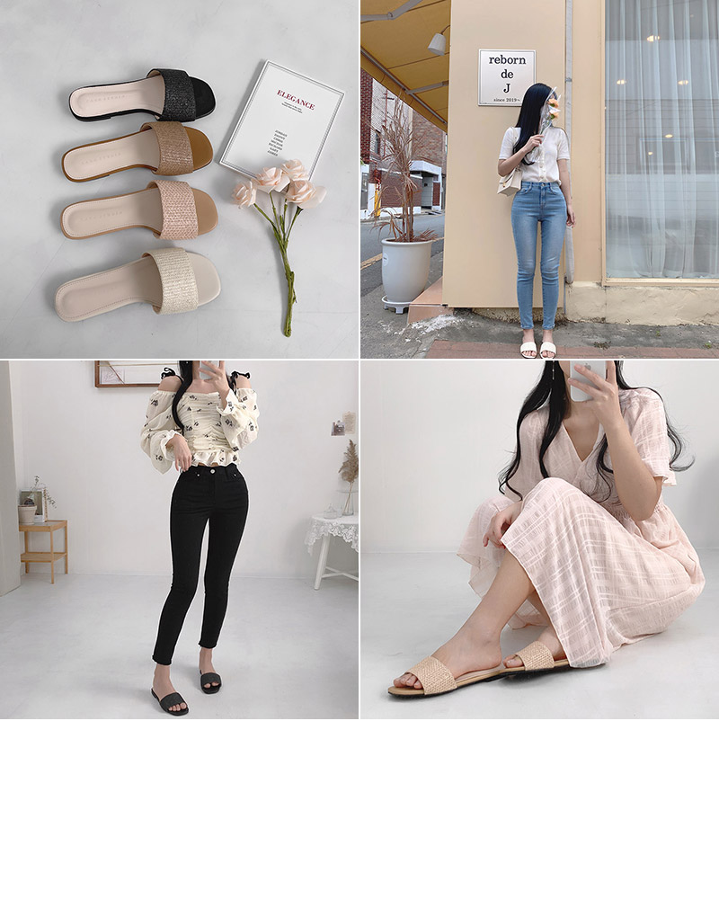 Showmi weave slippers
