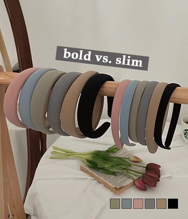 Pastel Slim Bold Plain Headband