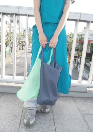 sheer color shoulder bag