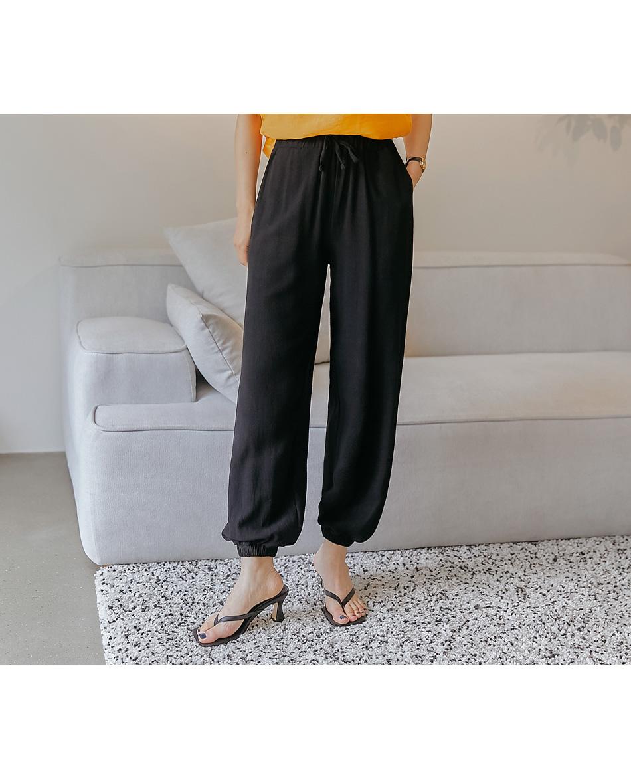 Linen Blend Jogger Pants