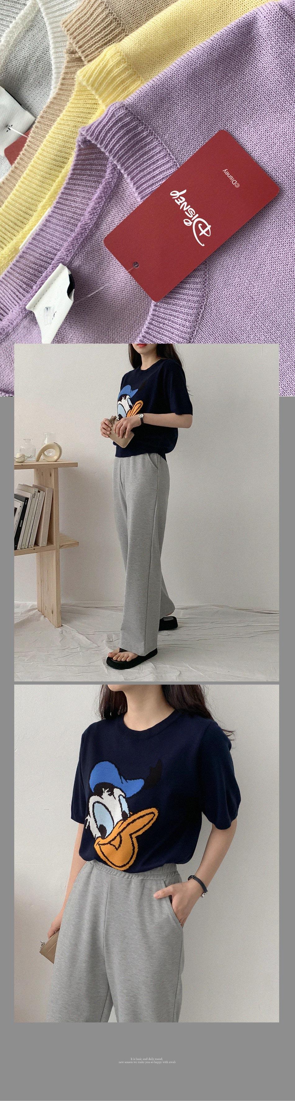 Genuine Disney Donald Short Sleeve Knitwear