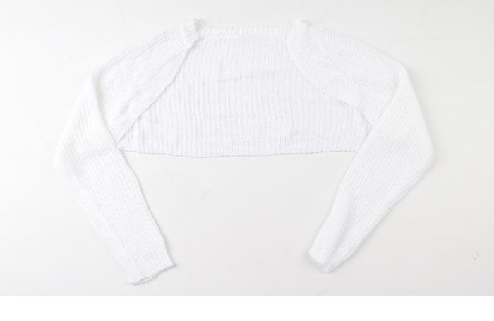 Summer Net Knitwear Bolero Cardigan