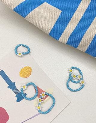 sale) Daisy Flower Beads Ring