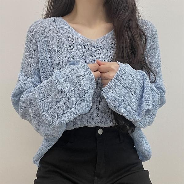 Louis V-Neck Cropped Knitwear