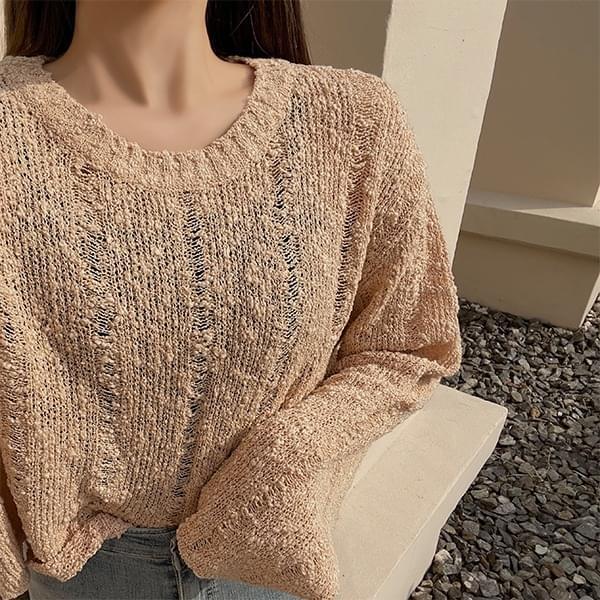 Semi Crop Round Knitwear
