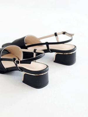 Elegant slingback sandals 4cm