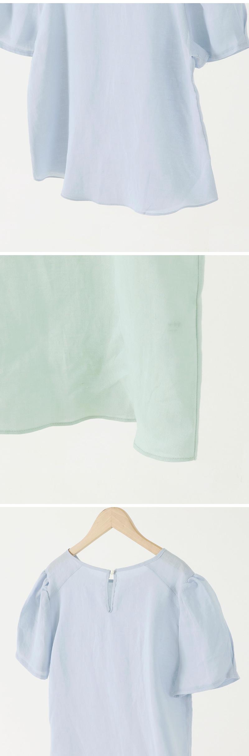 마일드 퍼프린넨블라우스 (5color)