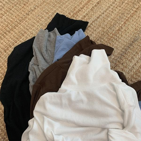 Real, quality warm, Fleece-lined warmer Turtleneck T-shirt
