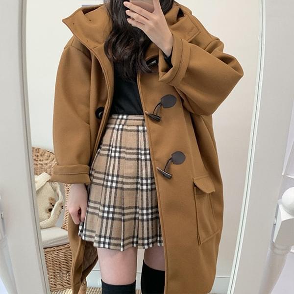 Rose check pleated mini skirt 裙子