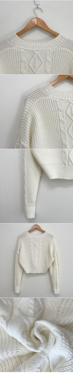 Color Tok Tok Abang Fit Crop Cardigan