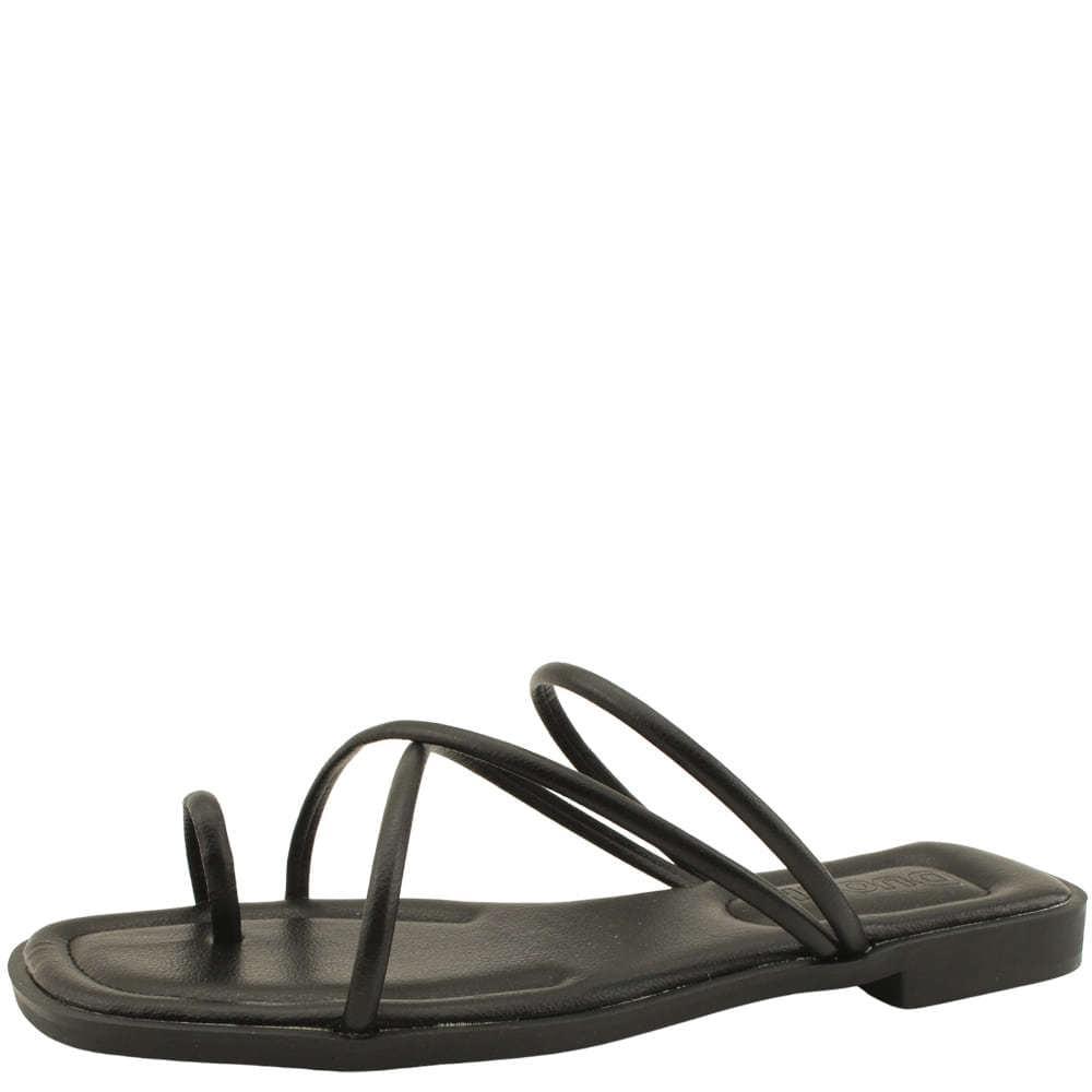 Slim Flip-Flop Strap Cushion Mule Slippers