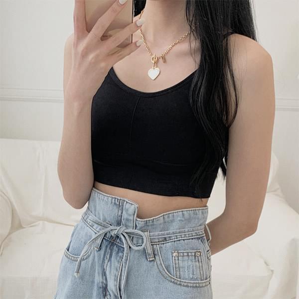 Monotone comfort bra top