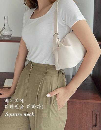 Basic square short-sleeved T-shirt