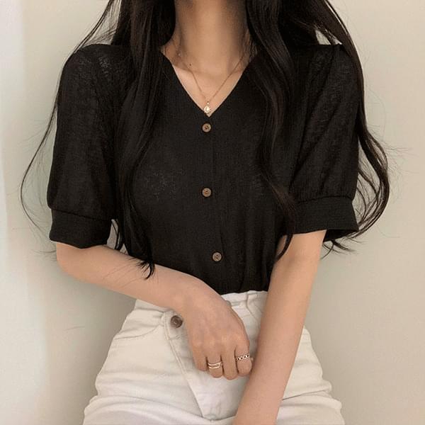 Mood color short-sleeved cardigan