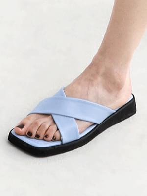Isshu cross-strap heel slippers 9121