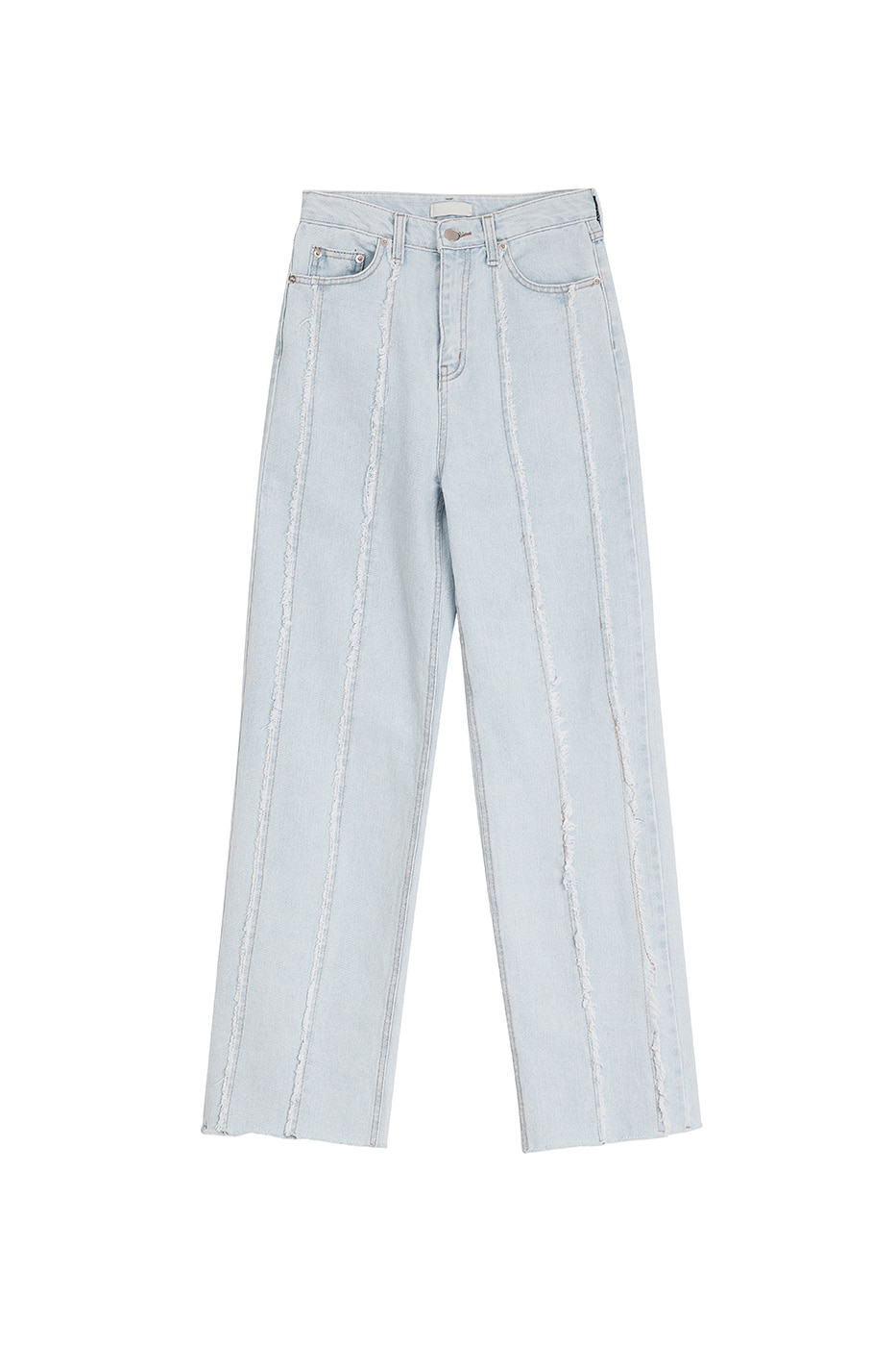 Cut fringe ice straight jeans