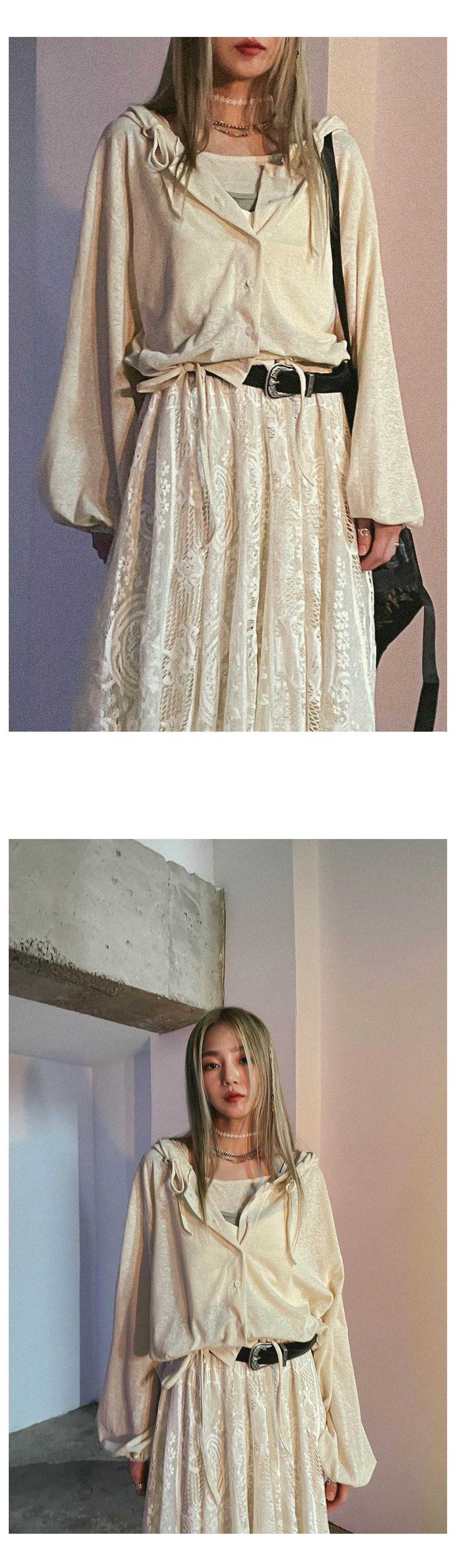 Linen Leo Sleeveless & Hooded Cardigan