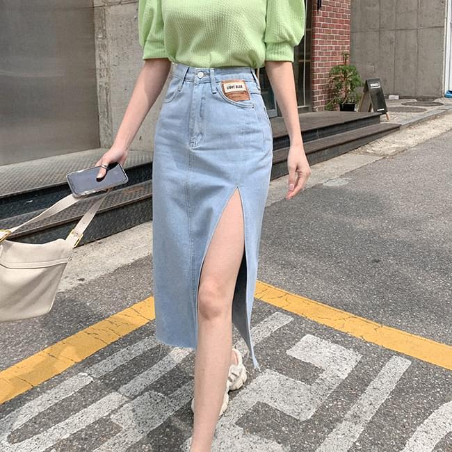 Nice look denim skirt