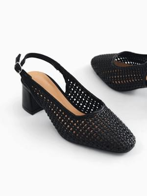 Refreshing slingback middle heel pumps 5cm