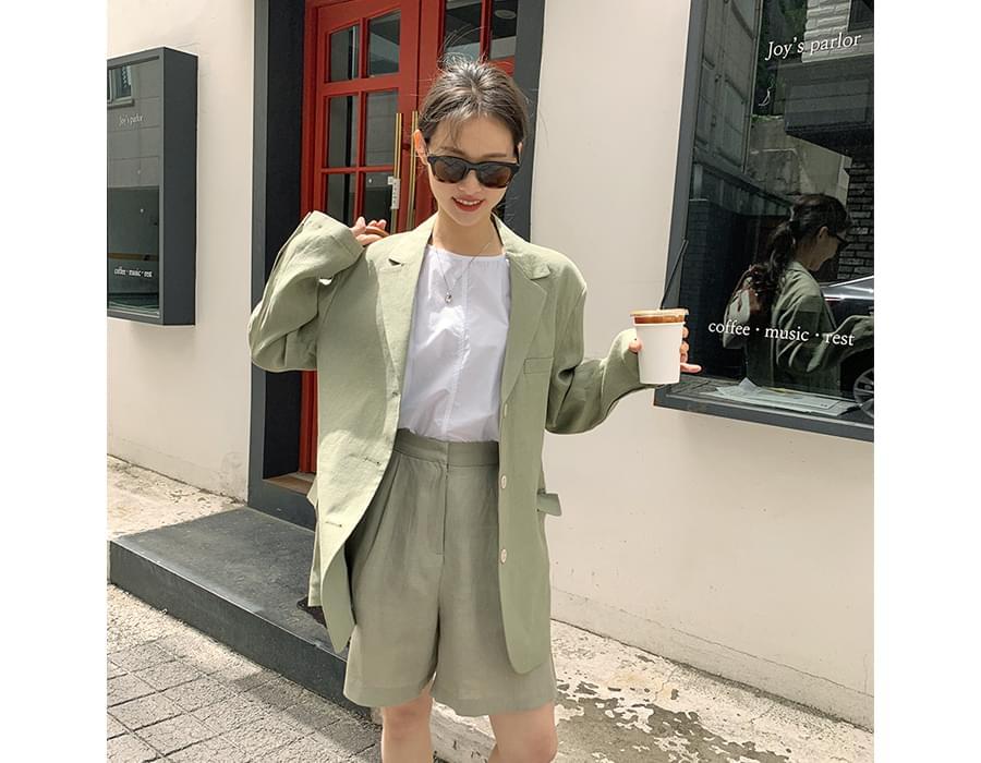 Classic Linen Single Boxy Jacket