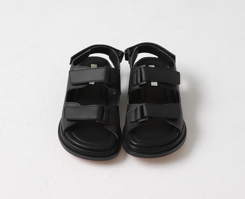 Cushion double velcro sandals