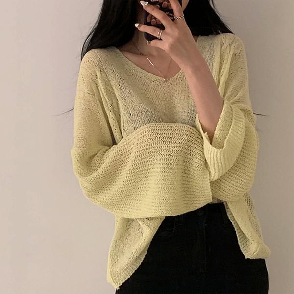 Tofu V-Neck Yeol-Fit Knitwear