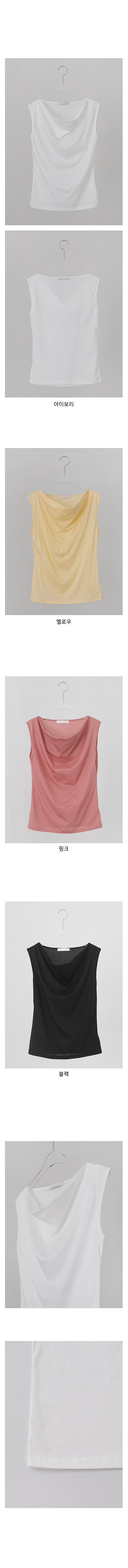draped sleeveless top