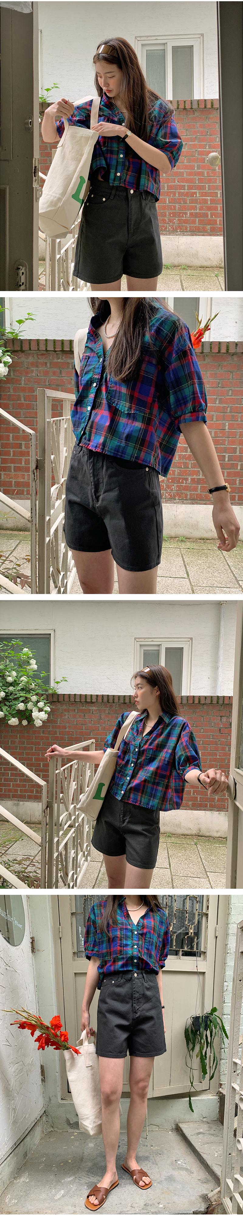 Cropped Cotton Half Pants