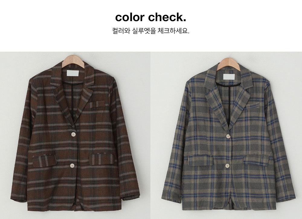 Again check linen jacket