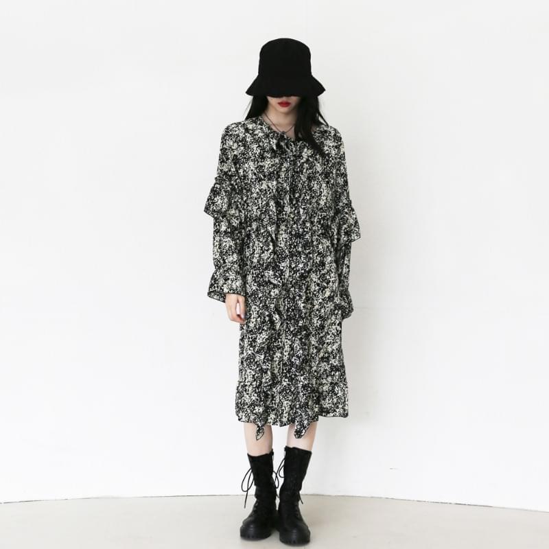 Panic pattern Dress