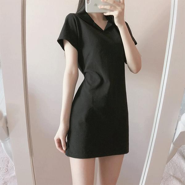 Rib Cara Pique Mini Dress -7colors