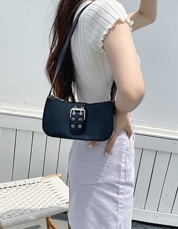 Black buckle mini bag