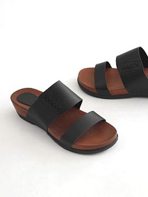 Slip Tension Wedge Slippers 4cm